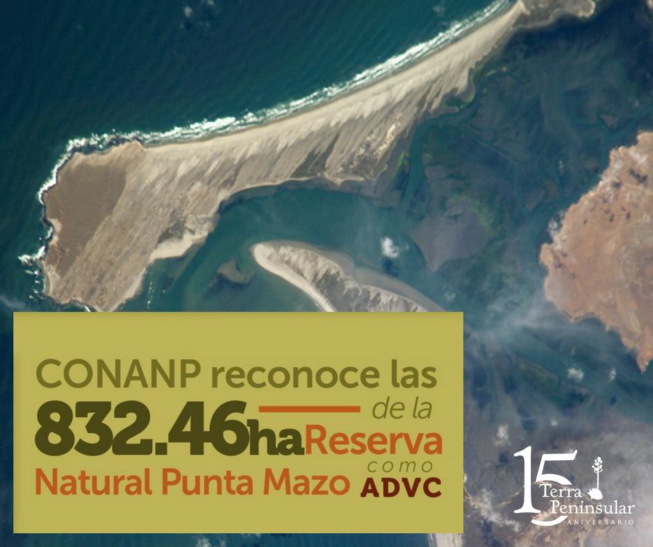 CONANP reconoce las 832.46 hectáreas de la Reserva Natural Punta Mazo, en San Quintín como ADVC.
