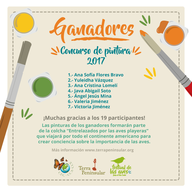 Ganadores concurso de pintura 2017