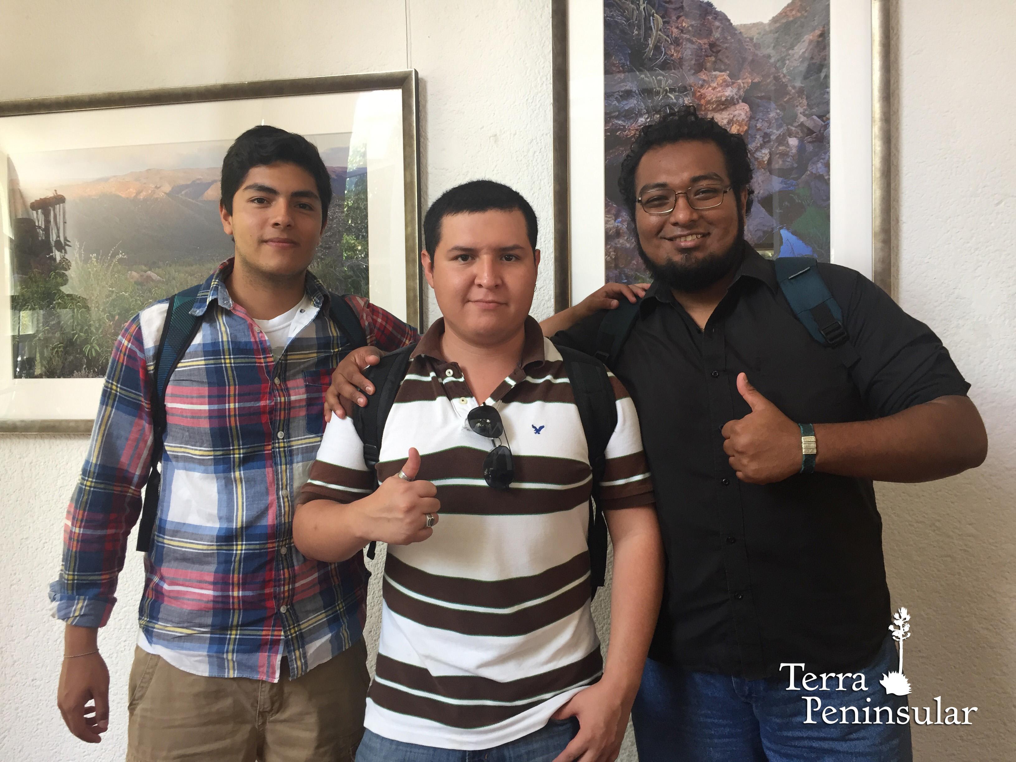 Carlos, Alfonso y Aldo realizarán su servicio social en Terra Peninsular.