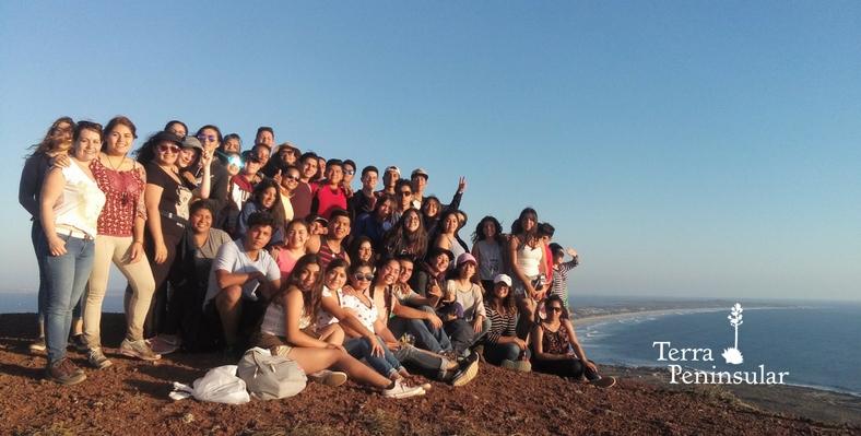 Visita de estudiantes en Punta Mazo