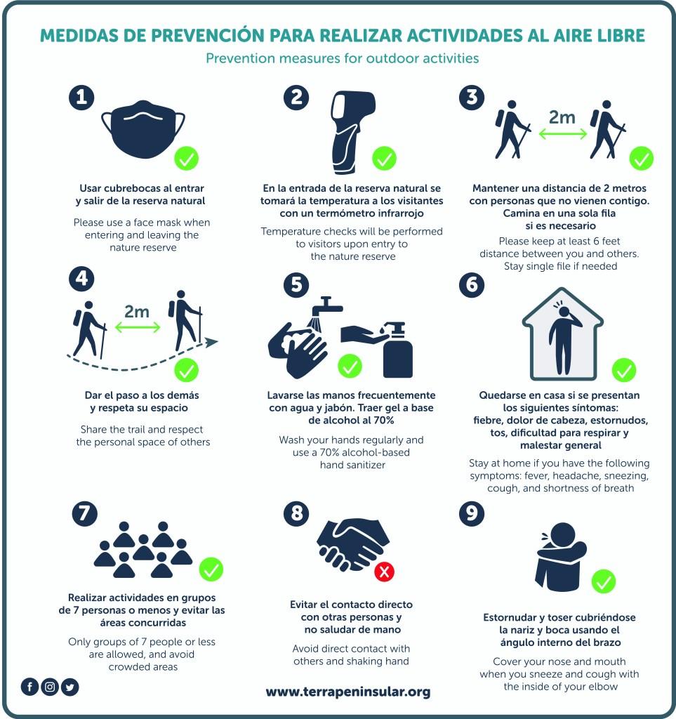 Medidas de prevención en actividades al aire libre